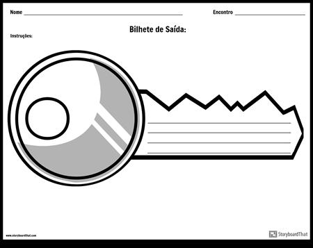 Bilhete de Saída - Chave da Porta