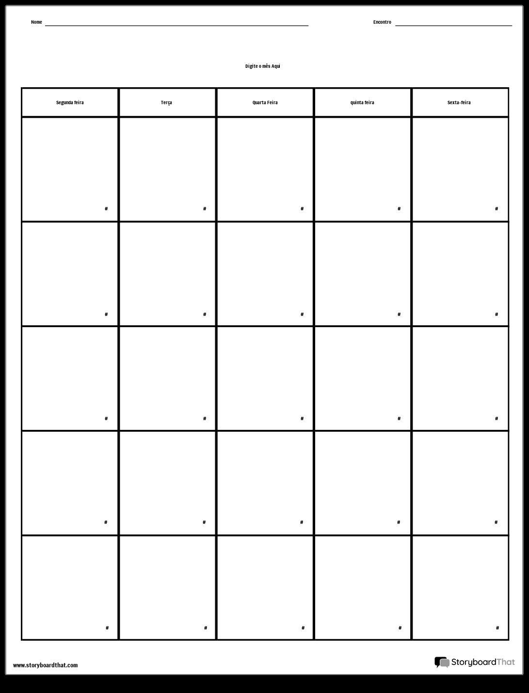 Semana Calendario.Calendario Dia Da Semana Storyboard Por Pt Examples