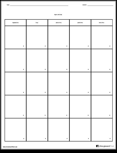 Calendário - Dia da Semana