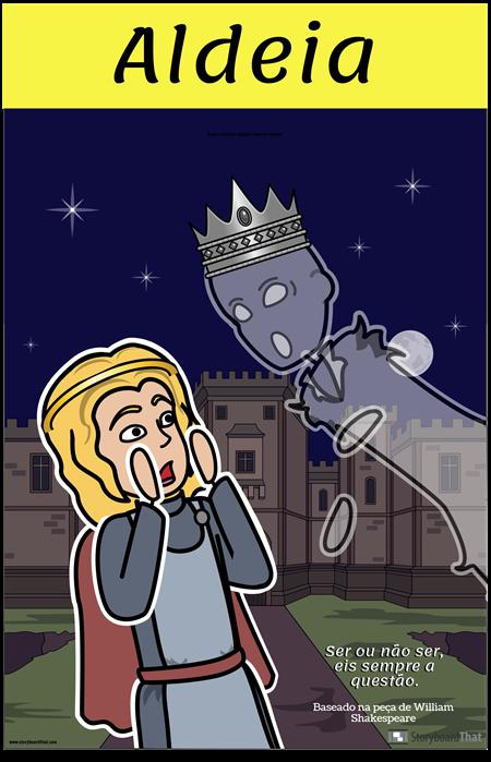 Cartaz de Hamlet ELA