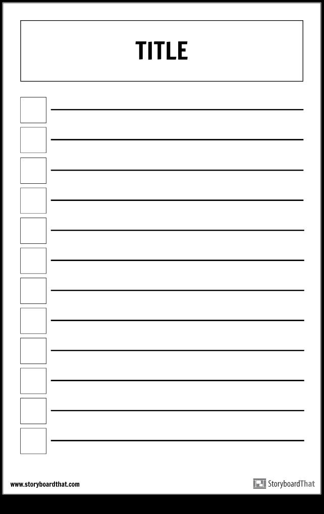 Cartaz de Lista de Verificação Básica