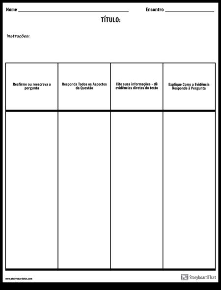 Colunas de Resposta Aberta