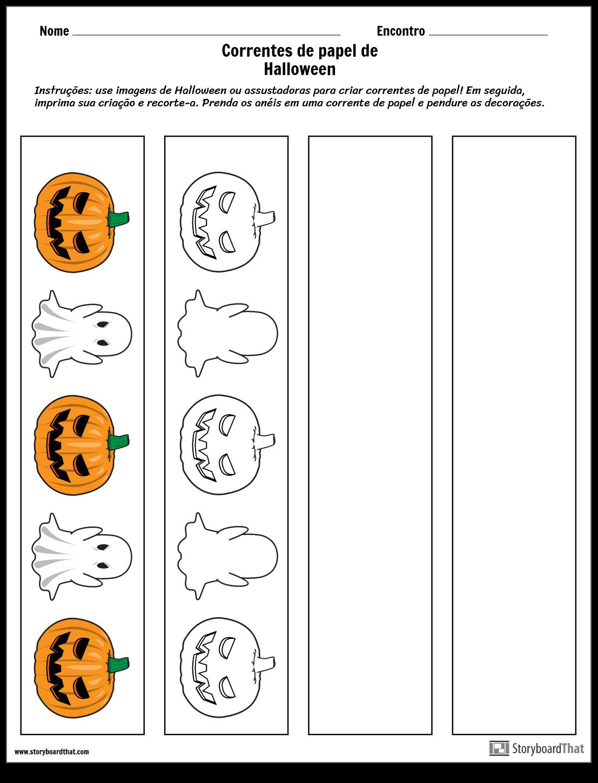 Correntes de Papel de Halloween