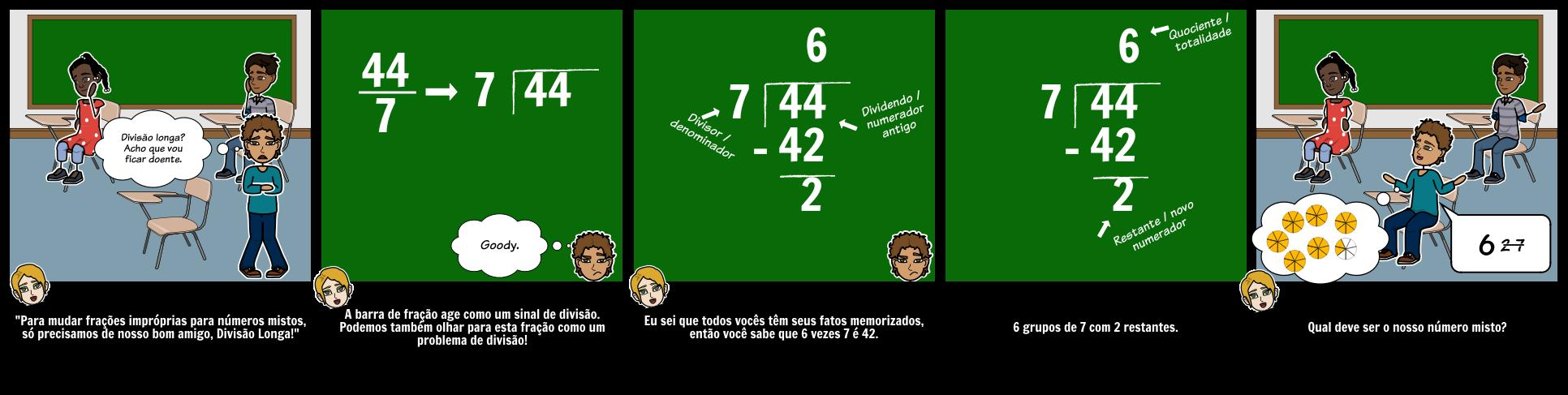 Fracções Impróprias Para Números Mistos