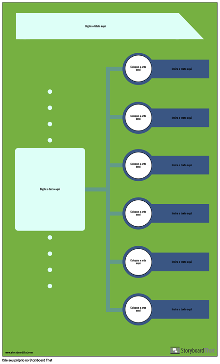 Infográfico da Linha do Tempo em Branco