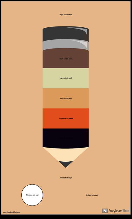 Infográfico de Lápis em Branco