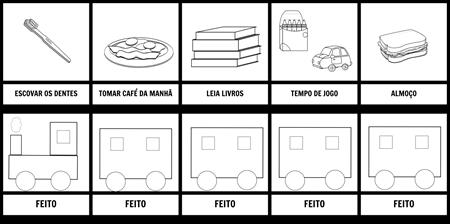MANHÃ, ROTINA, TREM, TODDLER