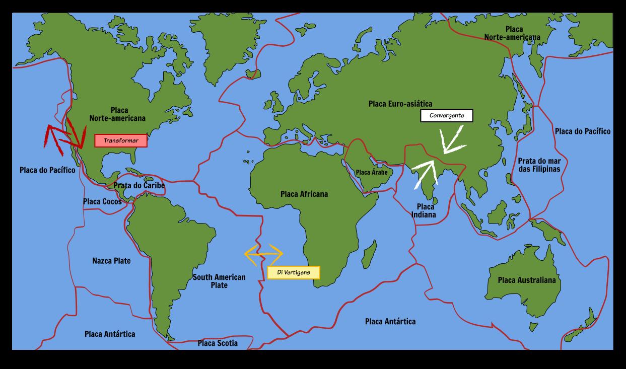 placas tectonicas mapa Mapa da Chapa Tectônica Storyboard por pt examples placas tectonicas mapa