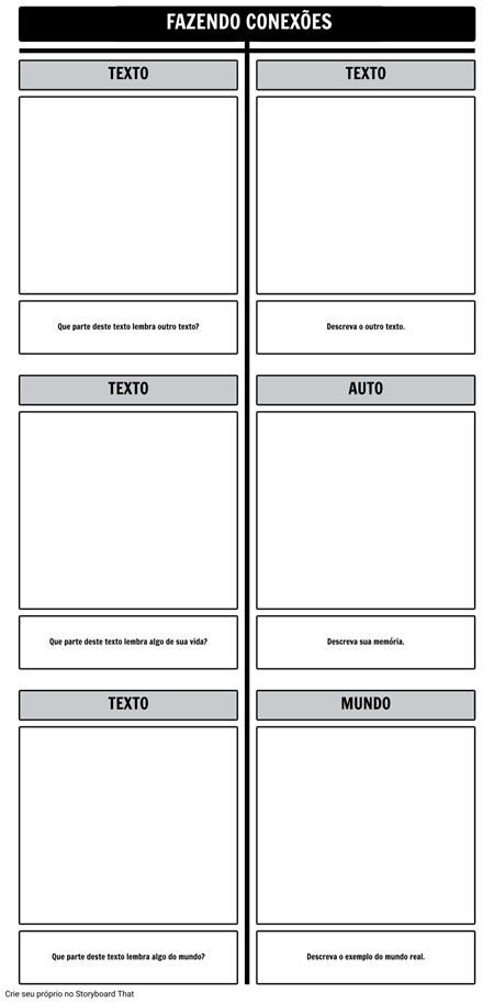 Modelo de Gráfico de T-Conexões de Texto