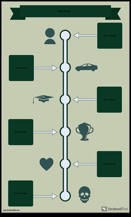 Modelo de Infográfico da Linha do Tempo