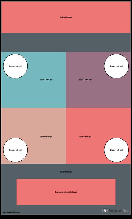 Modelo de Infográfico de Bloco
