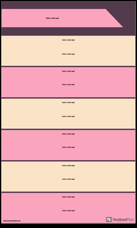 Modelo de Infográfico de Seções de Bloco