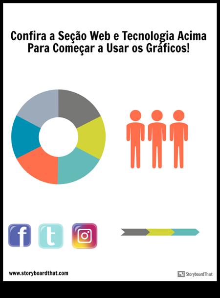 modelo gráfico de blog