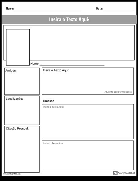 Página do Projeto de Mídia Social