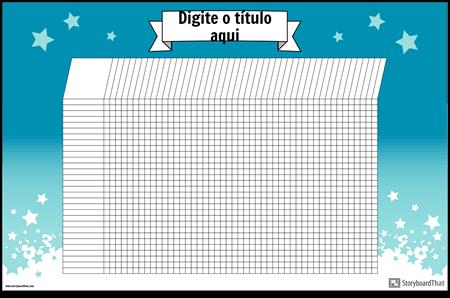 Poster de Gráfico de Estudante Horizontal