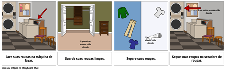 Primeiro ... Último Exemplo - Lavar Roupas