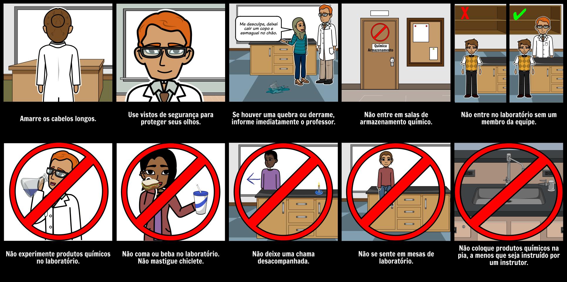 Regras de Segurança do Laboratório