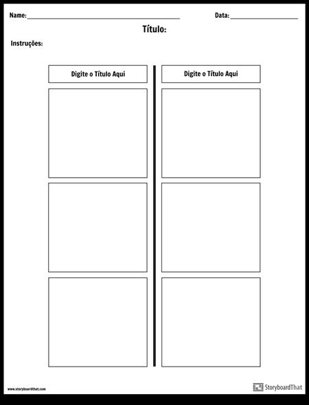T-Chart - 2 Colunas