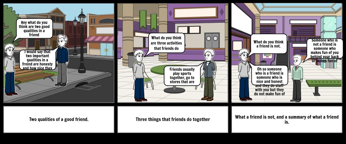 Friend story board