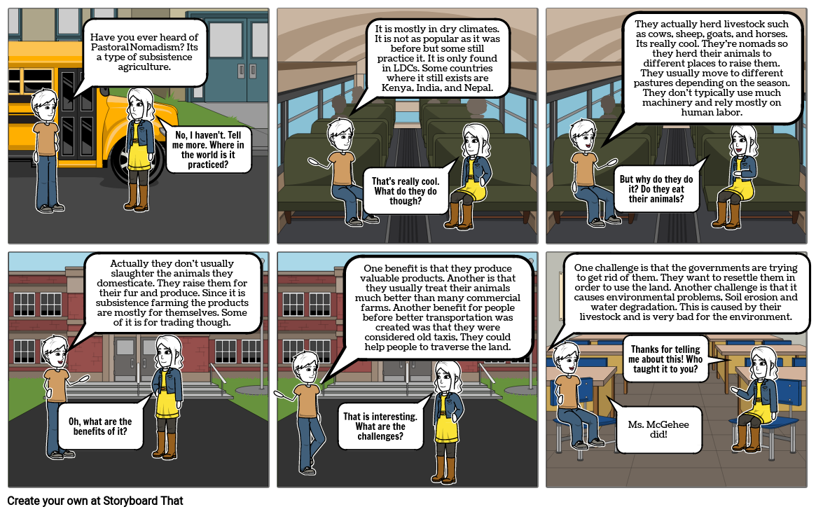 Agriculture storyboard Preston Troncale