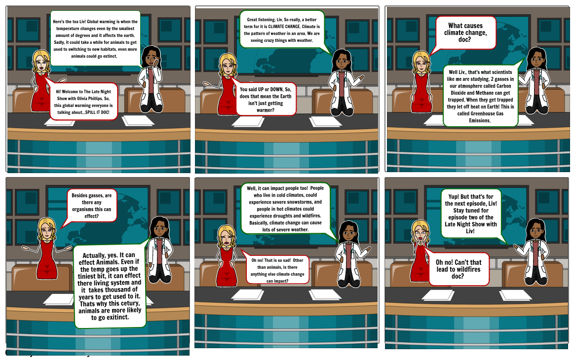 Earth Day climate change storyboardthat