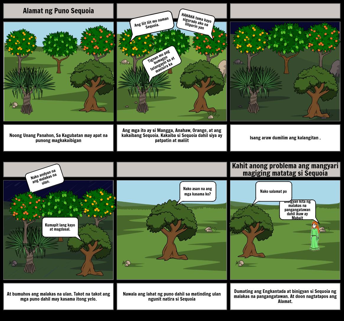 Alamat ng Puno ng Sequoia                    Akda ni:Lance Pingan