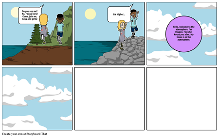 Science Storyboard- Kids learn about the Atmosphere!