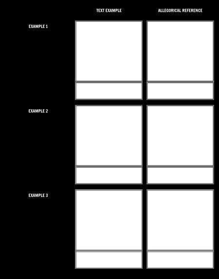 Allegorical Reference - Worksheet