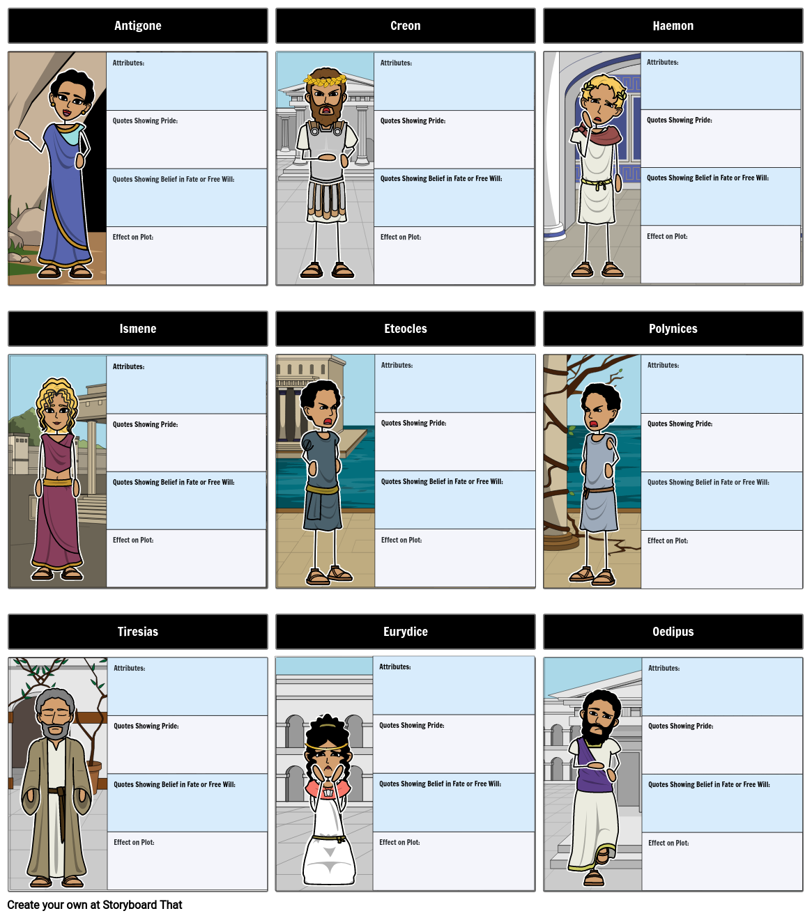 An analysis of the characters in antigone a play by sophocles