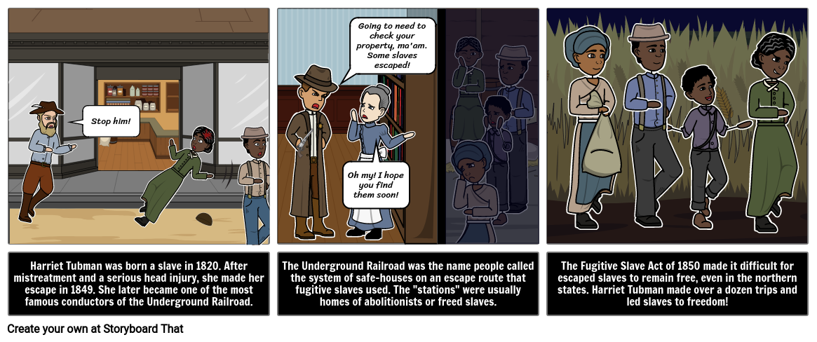 Black History Month Harriet Tubman Storyboard