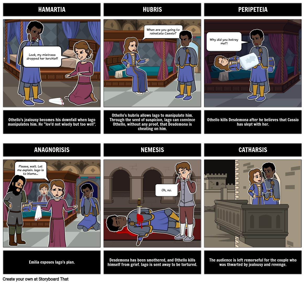 othello tragic hero storyboard by rebeccaray othello tragic hero