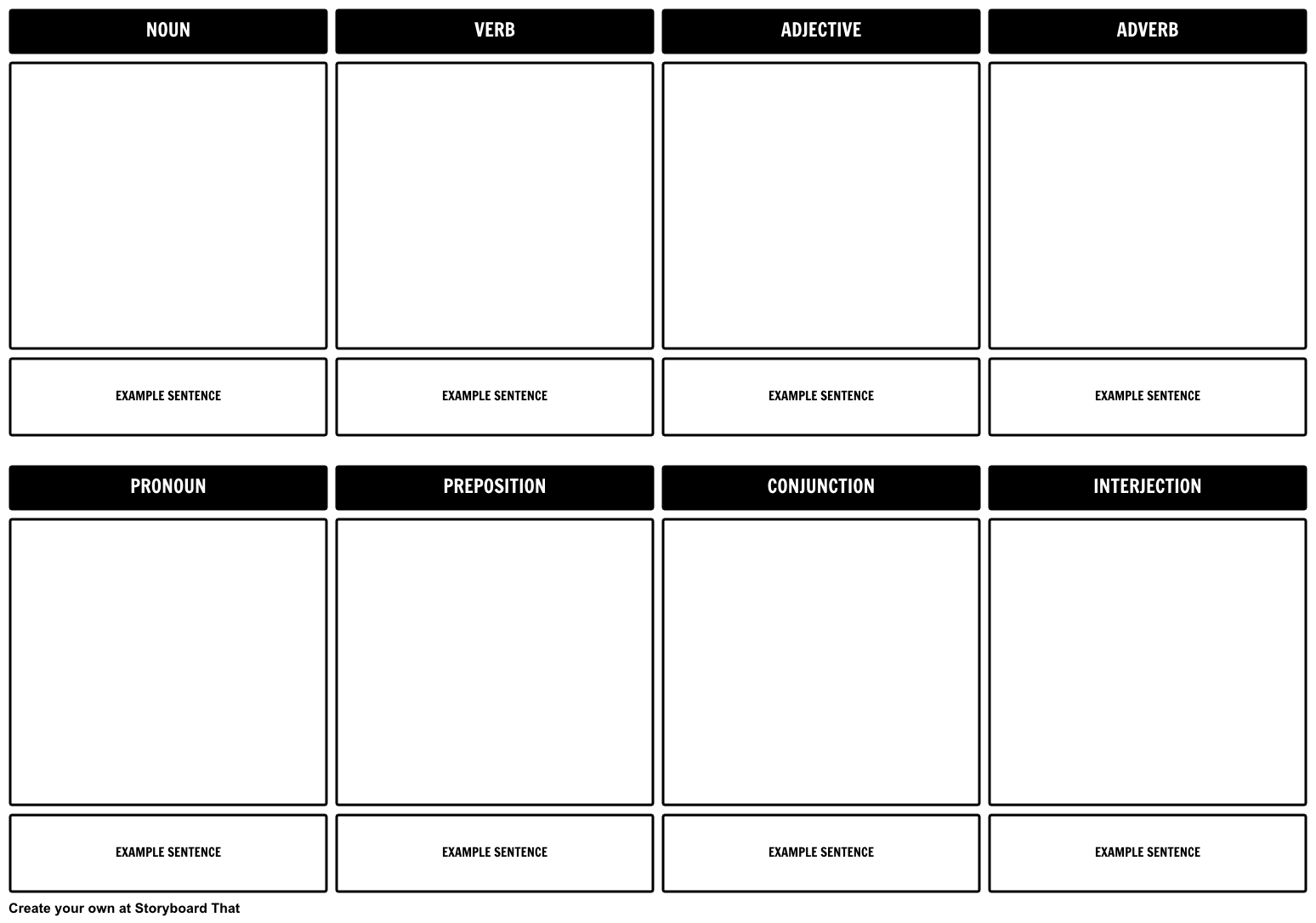 Parts Of Sch Storyboard Template