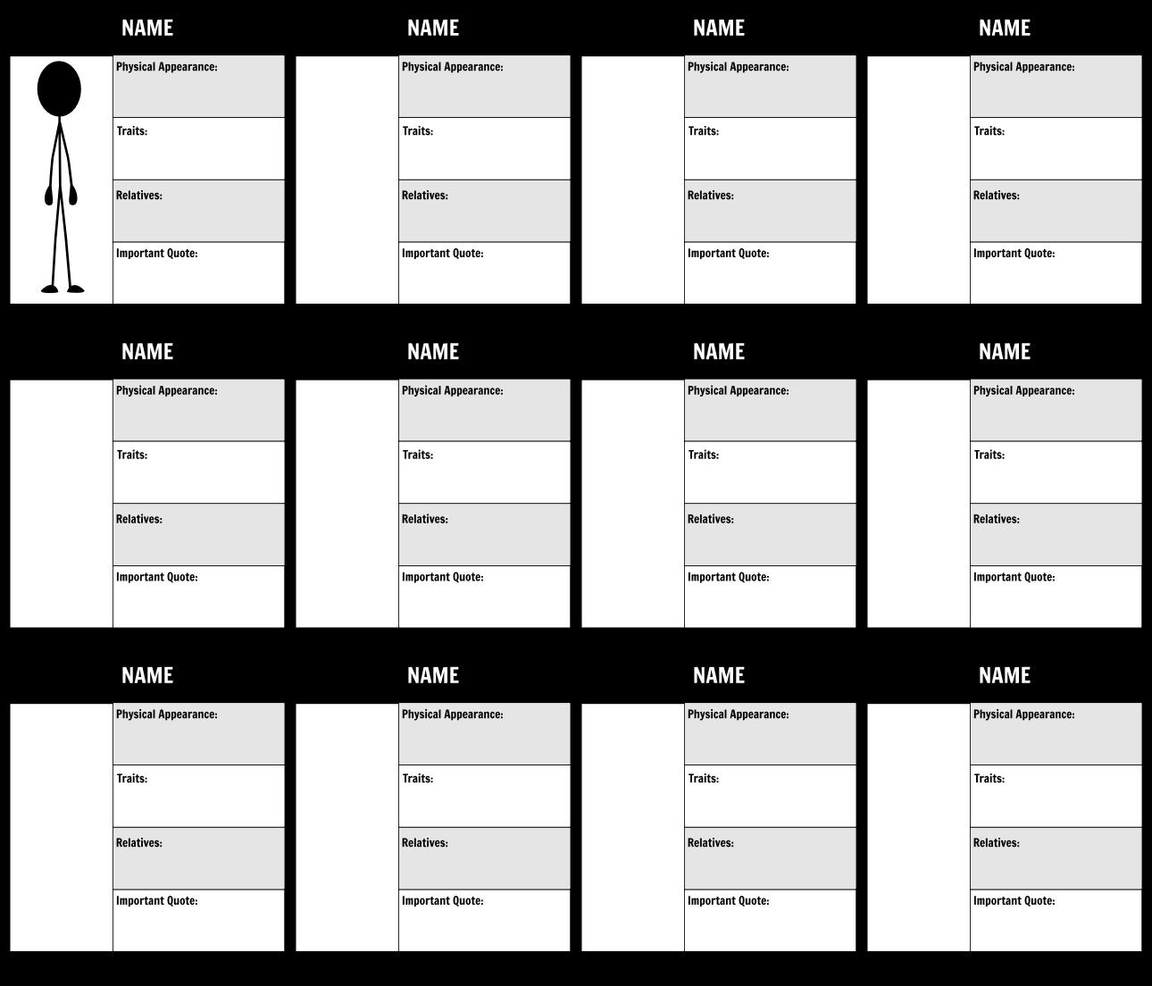 Character Map Graphic Organizer | Character Trait Analysis