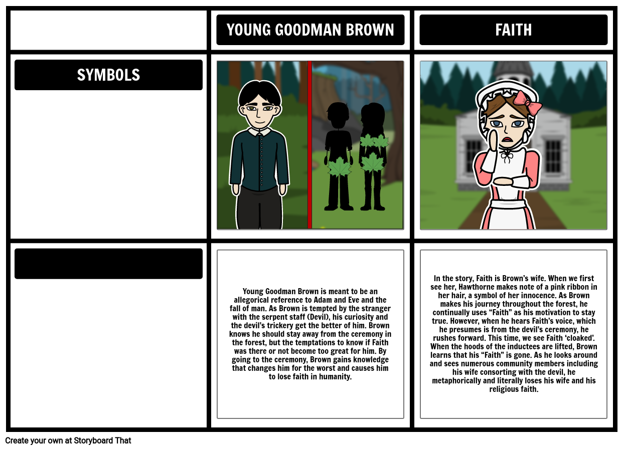 An overview of the symbolism in young goodman brown by nathaniel hawthorne