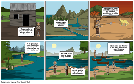 Lewis and Clark Story Board