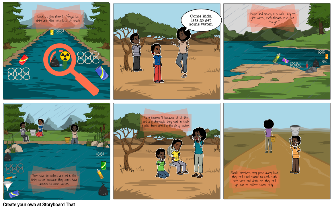 African Environmental Issues Comic