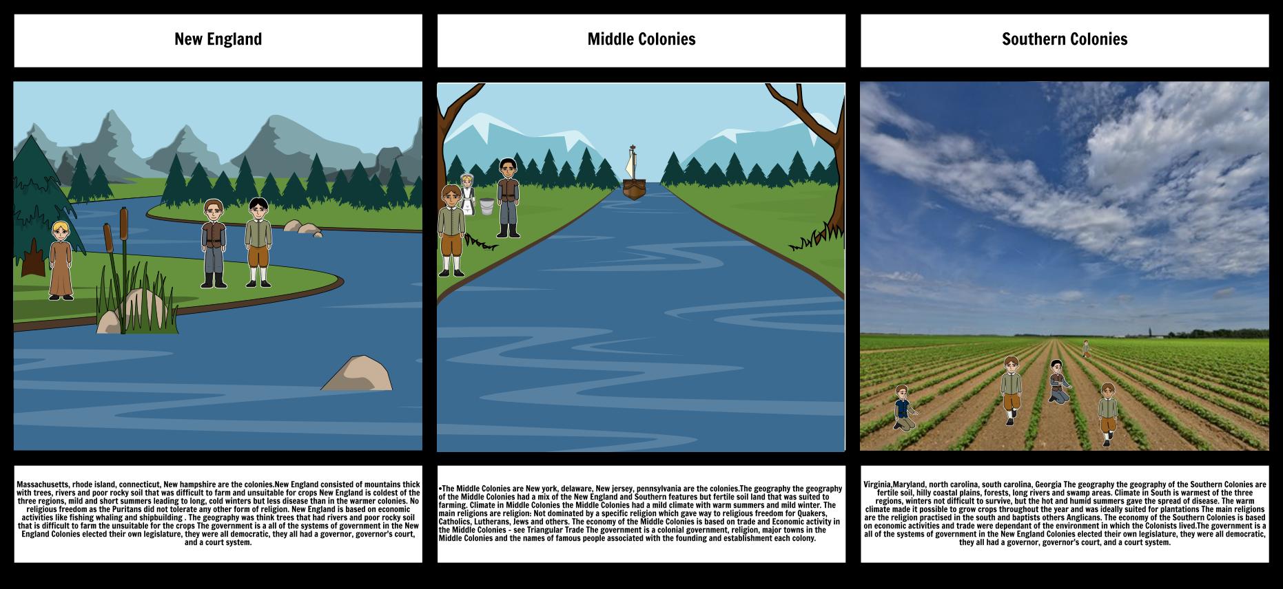 New England Storyboard By Rickbodden