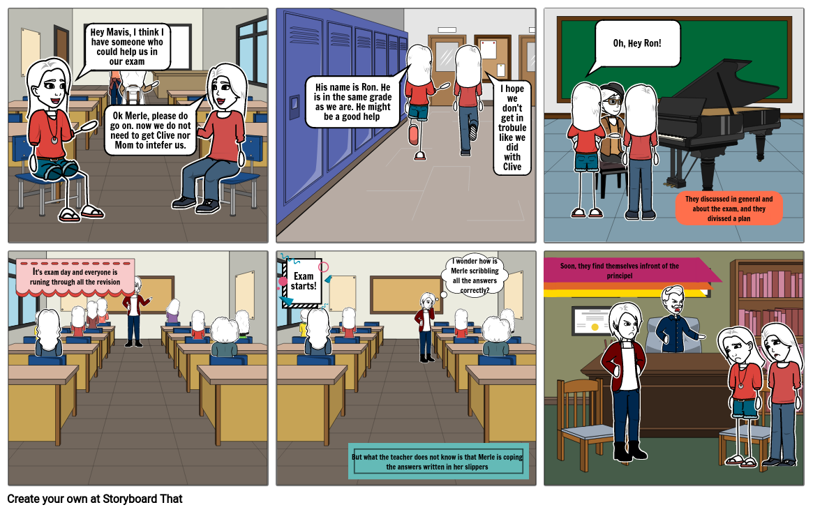 Fifth Form Justice Comic Strip