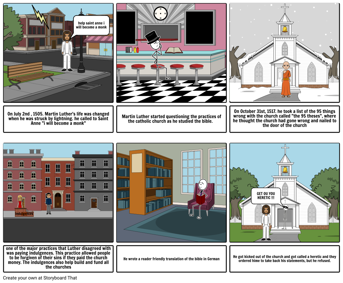 Martin luther storyboard