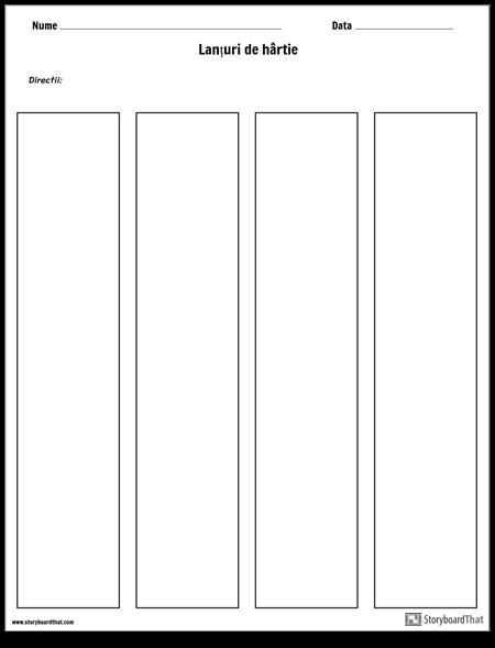 Șablon Lanțuri de Hârtie