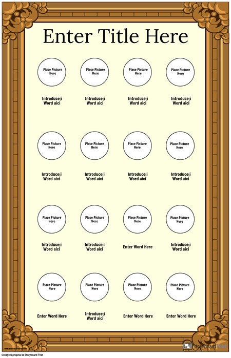 Afiș cu Vocabular Vizual Încadrat