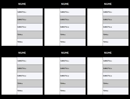 Caracter Hartă 5-Câmp Format