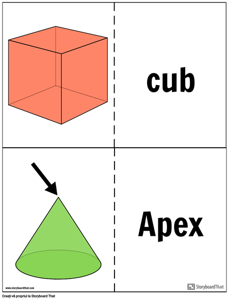 Carduri de Soliduri Geometrice