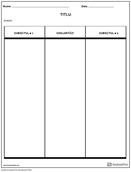 Comparați Tabelul de Contrast