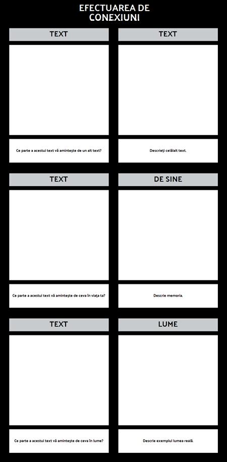 Conexiuni Text T-Chart Template