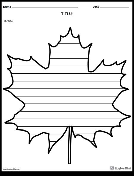 Creativ de Scriere - Maple Leaf