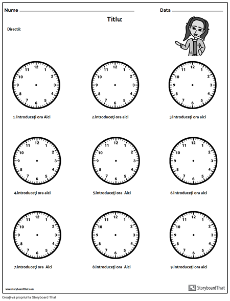 Desenați Mâinile pe Ceas