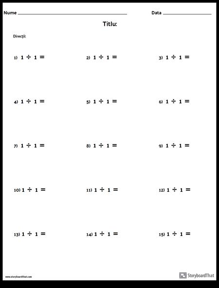 Diviziune - Număr Unic - Versiunea 1