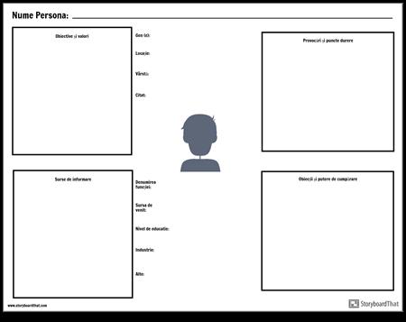Persona Template Worksheet