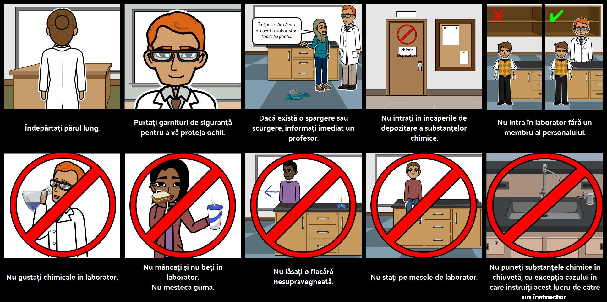 Regulile de Siguranță ale Laboratorului